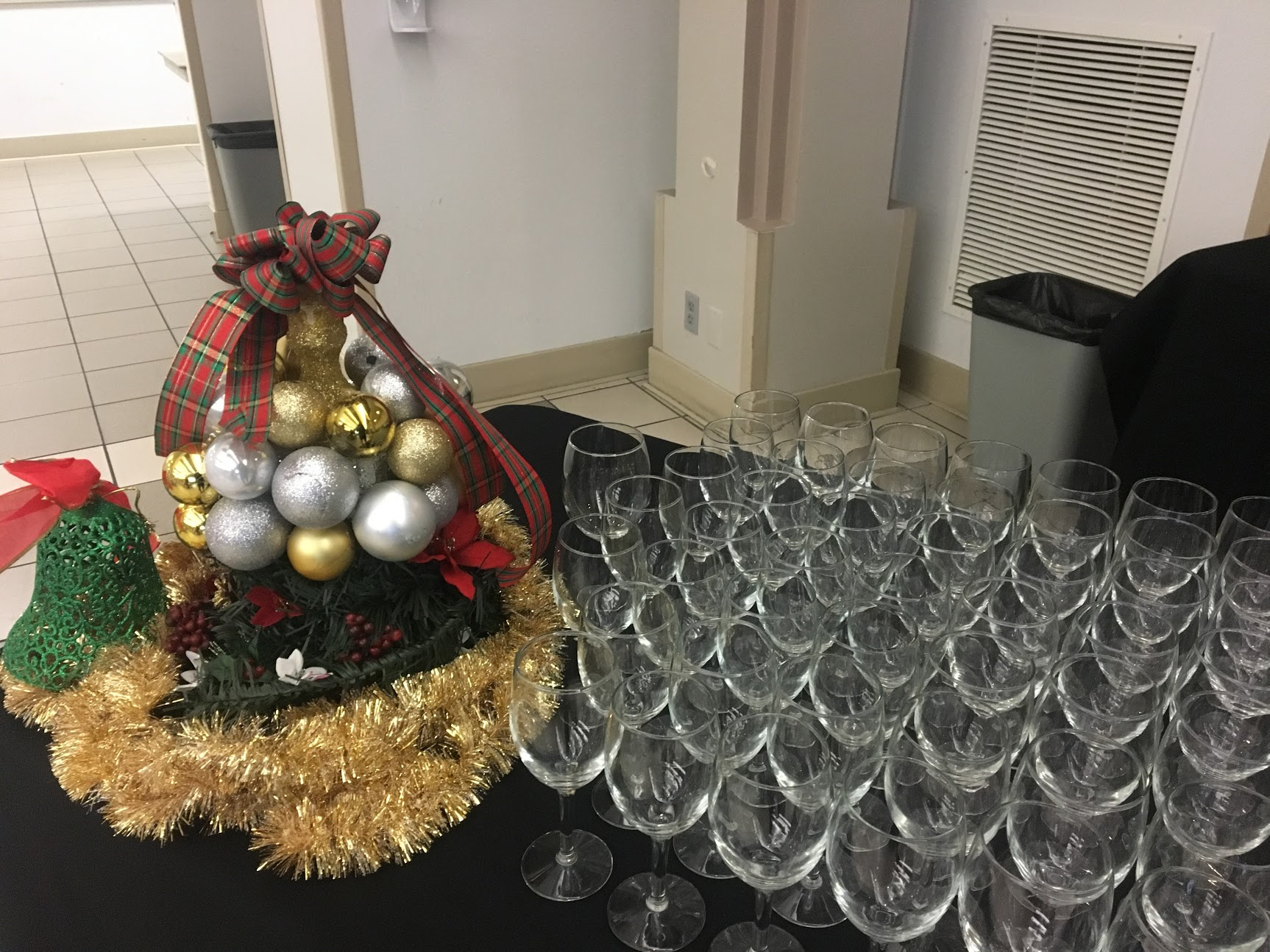 Seattle Investors Club Holiday Party wine glasses
