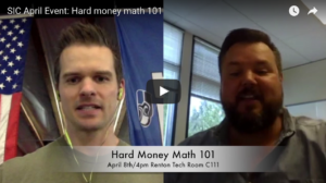 SIC April Meeting: Hard money math 101 with Travis Wandell of Veristone
