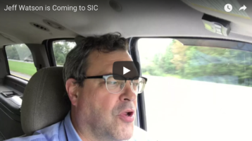 Sept 16th – Jeff Watson is Coming to SIC
