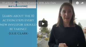 10 action steps for new investors! With Julie Clark