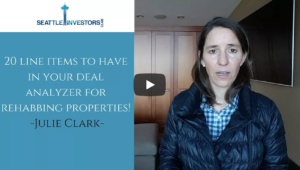 20 line items to have in your deal analyzer with Julie Clark