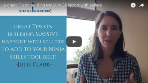 A great Tip on building MASSIVE Rapport with sellers
