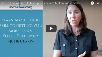 Learn how often to follow up with sellers & close more deals!