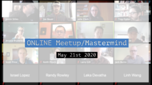 Meetup_Mastermind May 21st 2020 with Julie Clark and Joe Bauer