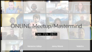 Meetup_Mastermind Jan 7th 2021 with Julie Clark and Kevin Kolinski