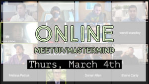 Meetup_Mastermind Mar 4th 2021 with Julie Clark and Keith Pitsch