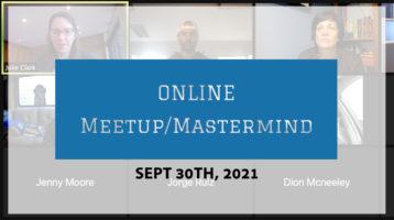 Meetup Mastermind Sept 30th 2021